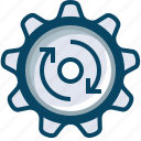 clockwise, gears, mechanism, options, rotation, setup, yumminky icon