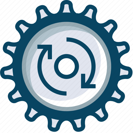 clockwise, gears, mechanism, options, rotation, setup, yumminky icon