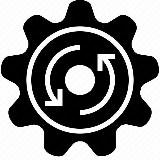 cog, counter clockwise, gears, mechanism, rotation, wheel, yumminky icon