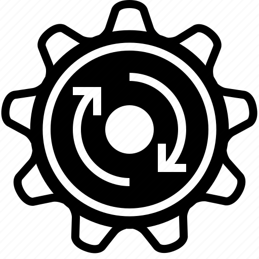 clockwise, cog, gears, mechanism, rotation, wheel, yumminky icon
