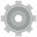 element, gear, metal, settings icon