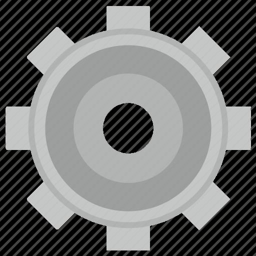 element, gear, metal, settings icon