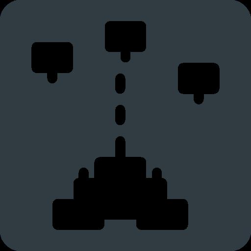 galaga, game, retro, video icon