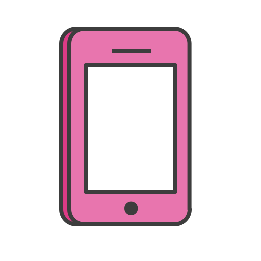 iphone, mobile, phone, pink, screen, smartphone, touch icon