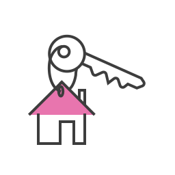 apartment, home, house, key, keys, lock, real estate icon