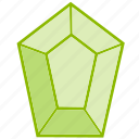 accesory, crystal, gem, jewel, jewelry, shapes icon