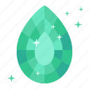 beryl, diamond, earrings, emerald, gas, mineral, ore icon