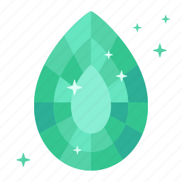 beryl, diamond, earrings, emerald, gas, mineral, ore icon