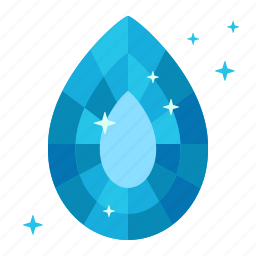 clean, clear, drop, purity, sapphire, tear, water icon