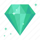 brilliant, chrysolite, diamond, emerald, jade, rich, topaz icon