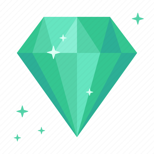 brilliant, chrysolite, diamond, emerald, jade, rich, topaz icon
