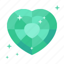 diamond, emerald, heart, jewellery, luck, success, wealth