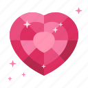heart, life, love, garnet, donor, donate, ruby icon
