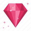 chance, diamond, fortune, garnet, rich, ruby, wealth icon