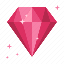 chance, diamond, fortune, garnet, rich, ruby, wealth icon