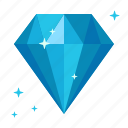 diamond, sapphire, ice, crystal, rich, adamant, gem icon