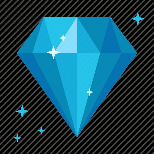 adamant, crystal, diamond, gem, ice, rich, sapphire icon