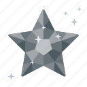 adamant, brilliant, clean, crystal, diamond, like, star icon
