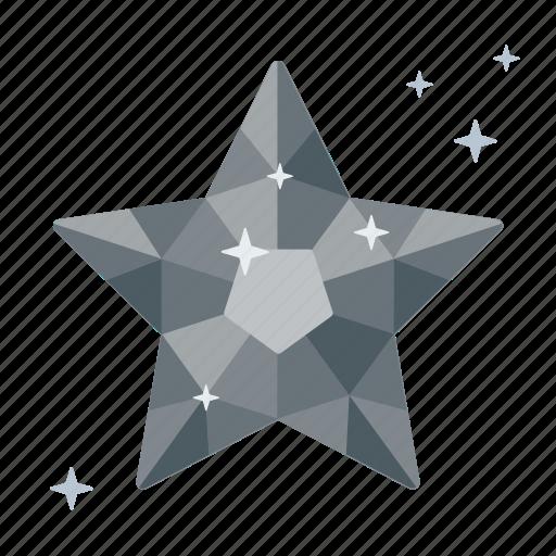 adamant, brilliant, clean, crystal, diamond, like, star icon