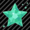 adamant, crystal, diamond, emerald, fortune, rating, topaz icon