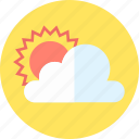 cloud, cloudy, media, sunny icon