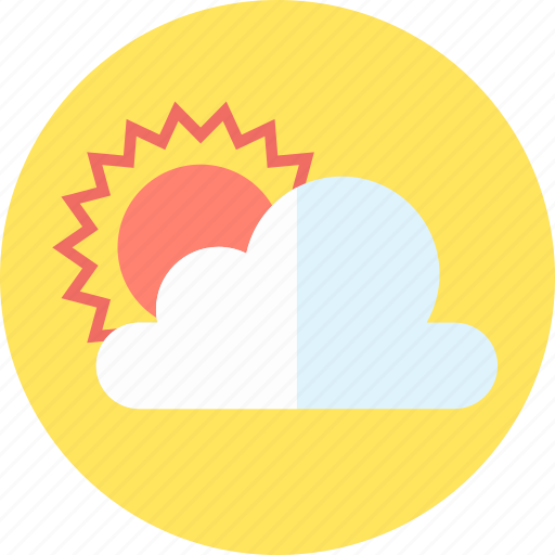cloud, cloudy, media, sunny icon