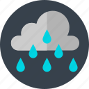 cloud, cloudy, rain, raining icon