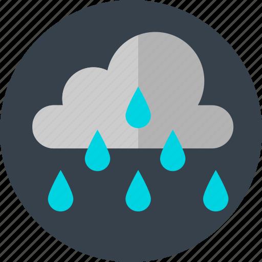 cloud, cloudy, rain, raining icon