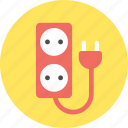 electric, electricity, plug, socket icon