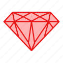 diamond, gem, gemstone, jewel, jewelry icon