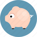 balance, finance, money, pig icon