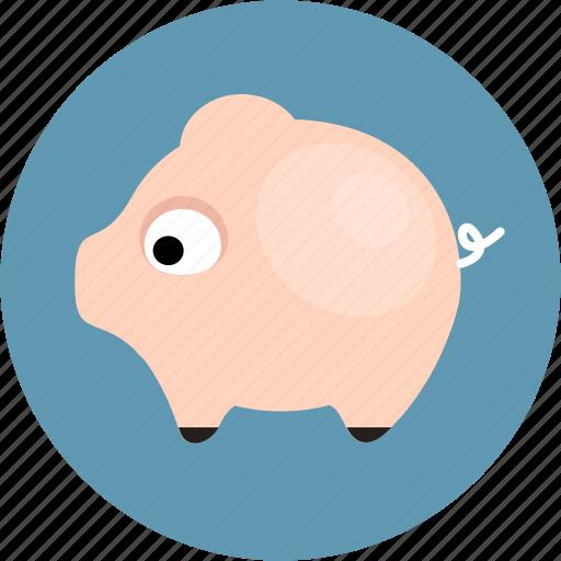 balance, finance, money, pig icon