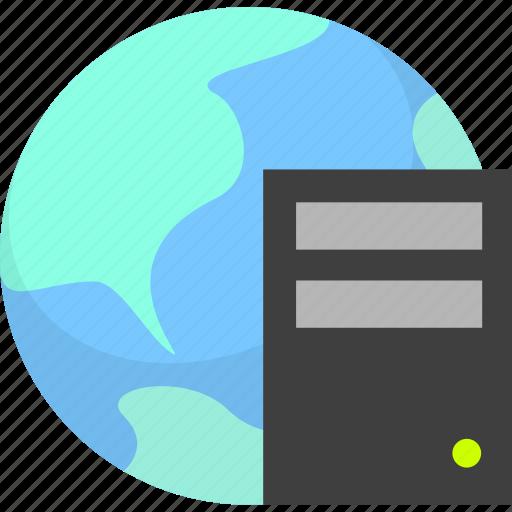 hosting, internet, server icon