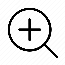 increase, pluz, zoom, zoom in icon