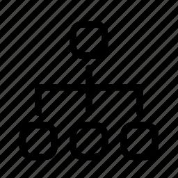 chart, divide, graph, pie icon