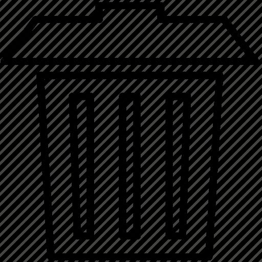 delete, junk, remove, trash, trash can icon