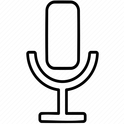 microphone, radio, record, talk icon