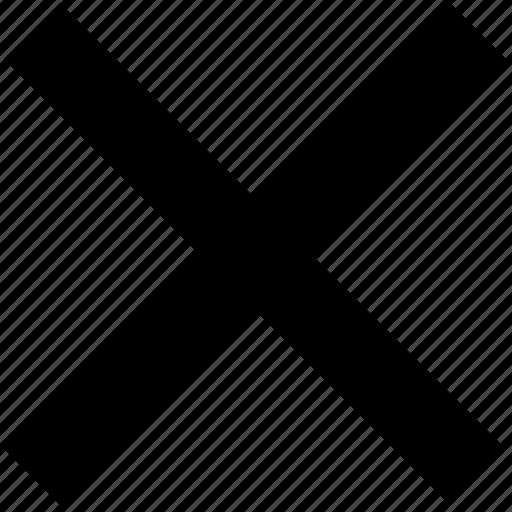 cancel, close, delete, dismiss, remove, void icon
