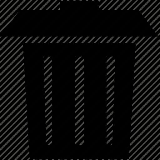 delete, erase, garbage, litter, remove, trash can icon