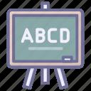 blackboard, education, learning, study icon