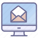 computer, email, mail icon