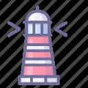 lighthouse, navigation, sea icon