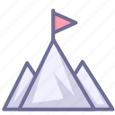 mountains, top, win, winner icon