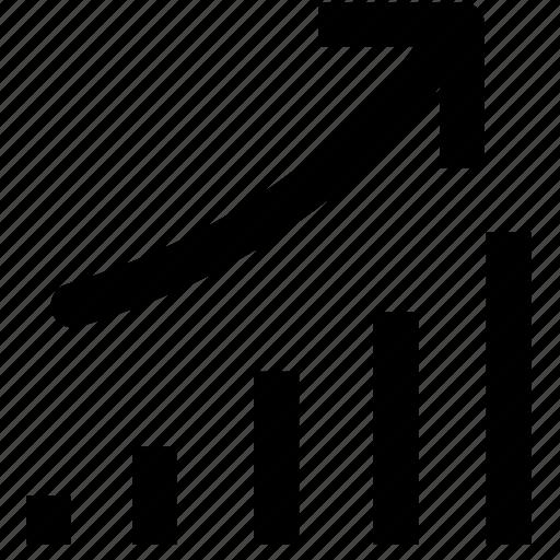 finance, marketing, trend icon
