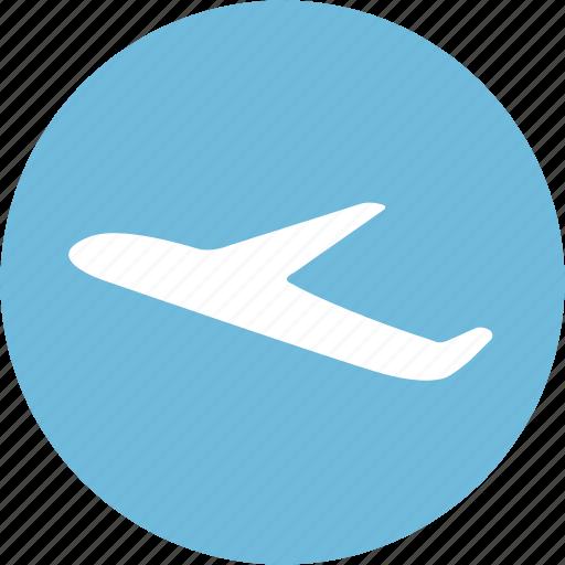 aerodrome, airfield, airline, airport icon