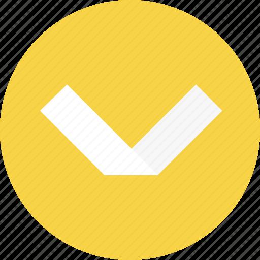 arrow, bottom, close, open icon