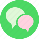 chat, comment, communication, conversation, discuss, message, talk icon