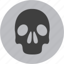 alert, attention, caution, danger, skull, warning icon