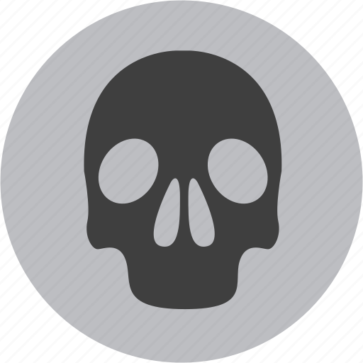 alert, attention, caution, danger, skull, warning icon