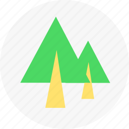 forest, nature, trees icon
